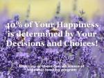 40% of Happiness – Pic – Qoutes –E