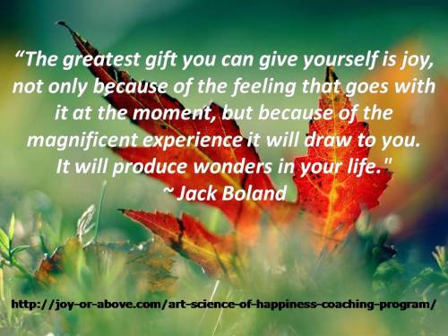 The greatest gift you can give yourself