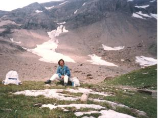 Zafira Hiking on the Swiss Alps