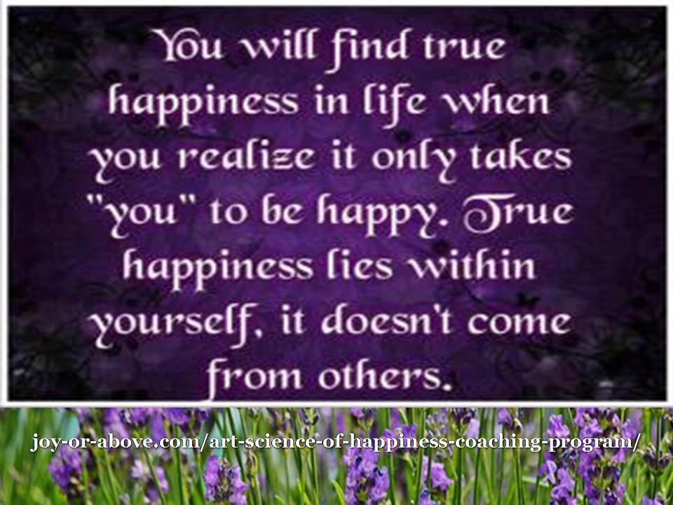 True happiness lies within