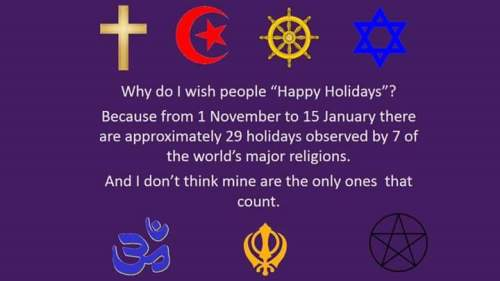 Why Happy holidays