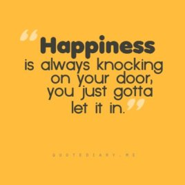 Happiness knocking