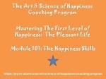 Happiness Coaching Program – Module 101 –Eng