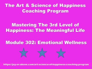 Happiness Coaching Program - Module 302 - Eng - 2019