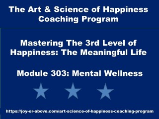 Happiness Coaching Program - Module 303 - Eng - 2019