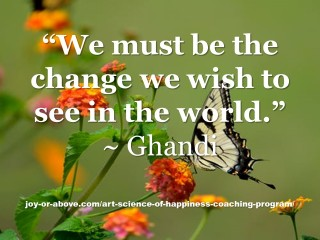 we must be the change