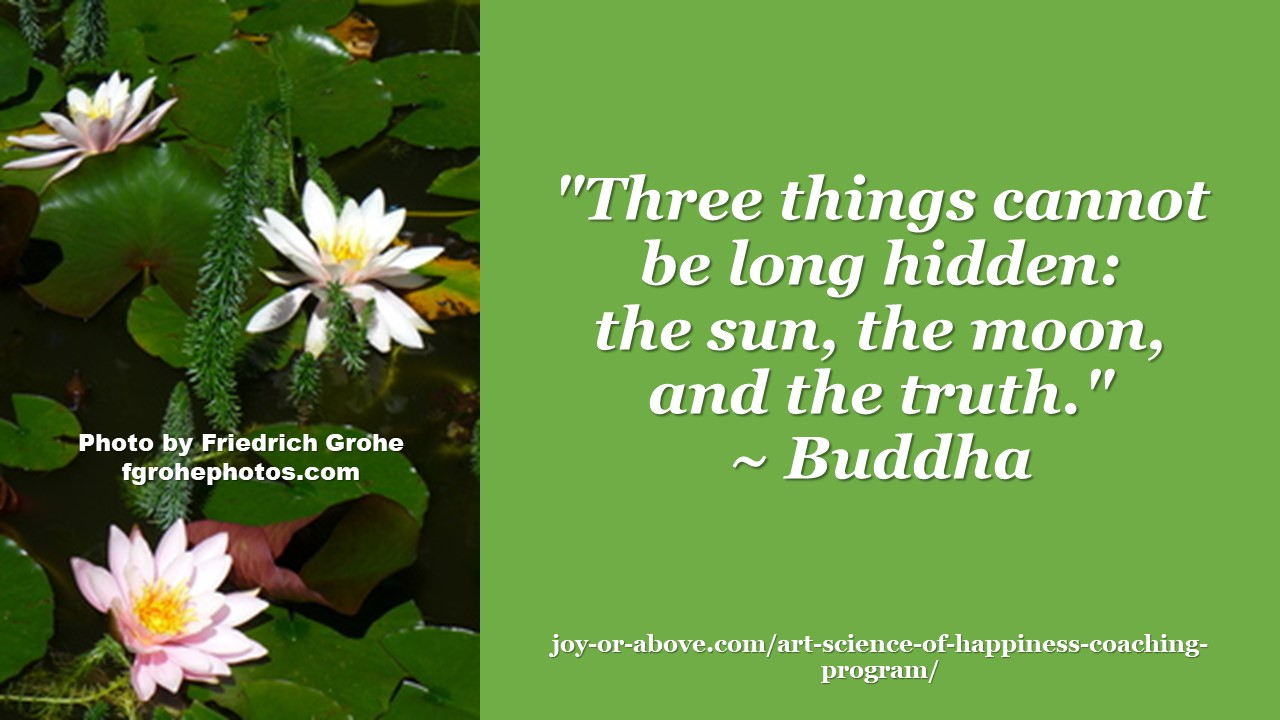 3 things cannot be hidden - Budha